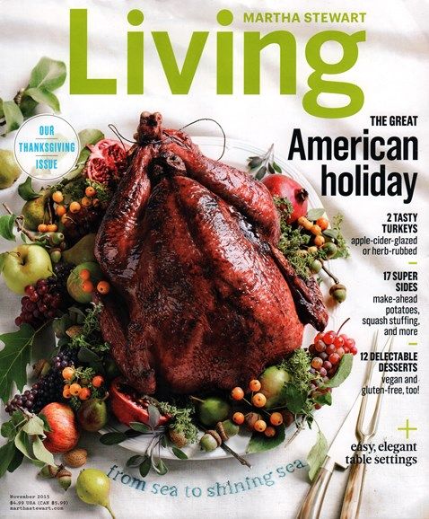 Martha Stewart Living Cover - 11/1/2015