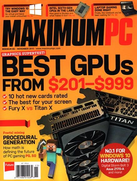 Maximum PC Cover - 11/1/2015