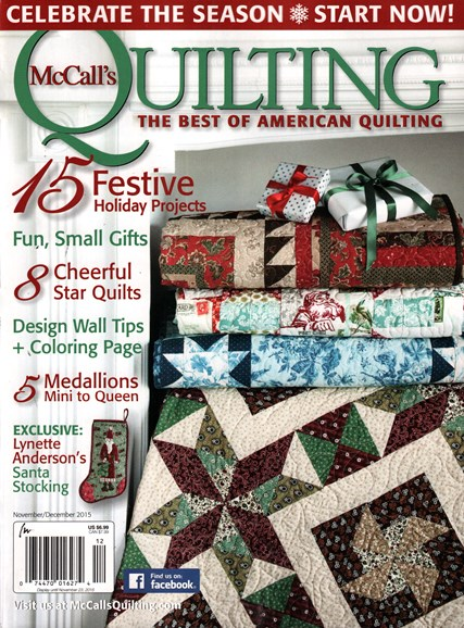 McCall's Quilting Cover - 11/1/2015