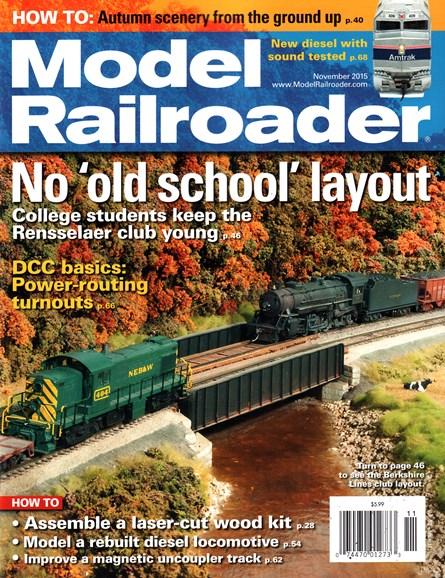 Model Railroader Cover - 11/1/2015