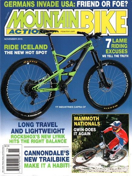 Mountain Bike Action Cover - 11/1/2015