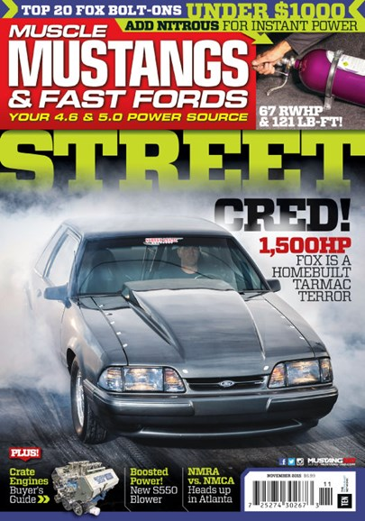 Muscle Mustangs & Fast Fords Cover - 11/1/2015