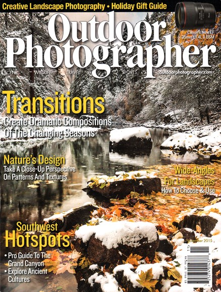 Outdoor Photographer Cover - 11/1/2015