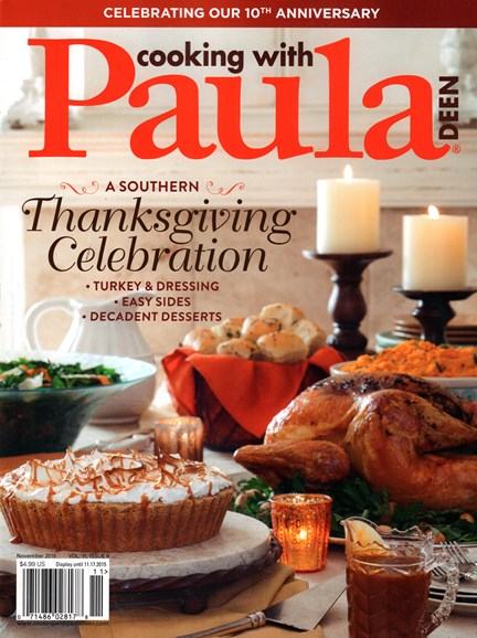 Cooking With Paula Deen Cover - 11/1/2015