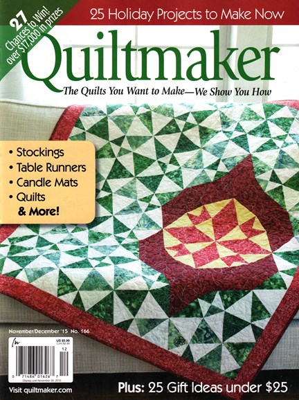 Quiltmaker Cover - 11/1/2015
