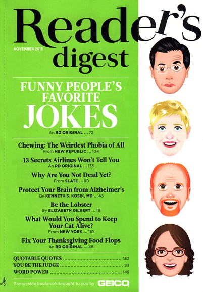 Reader's Digest Cover - 11/1/2015