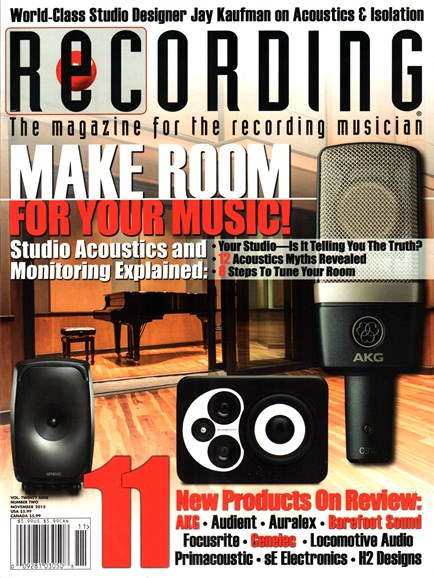 Recording Magazine Cover - 11/1/2015