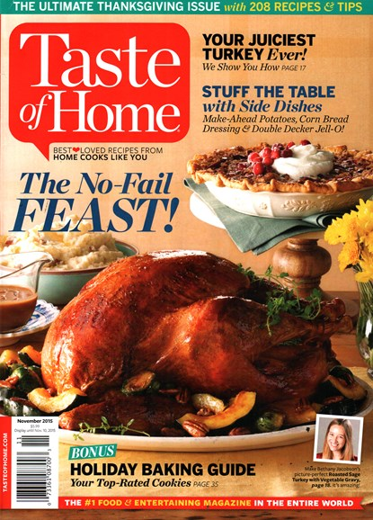 Taste of Home Cover - 11/1/2015