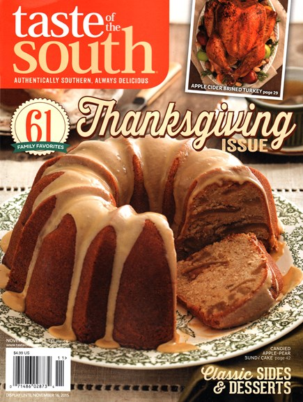 Taste of the South Cover - 11/1/2015