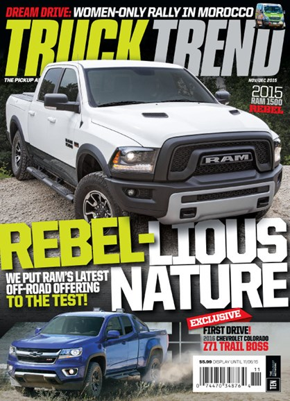 Truck Trend Cover - 11/1/2015