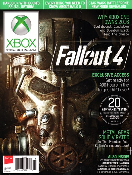 Official Xbox Magazine Cover - 11/1/2015