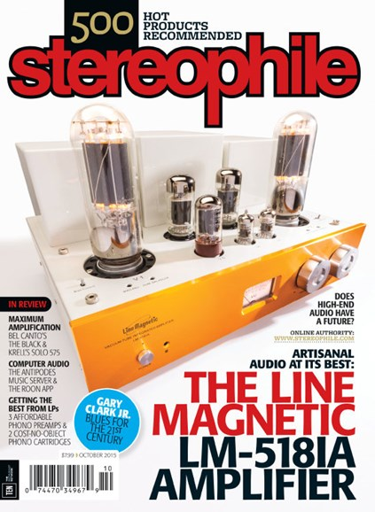 Stereophile Cover - 10/1/2015