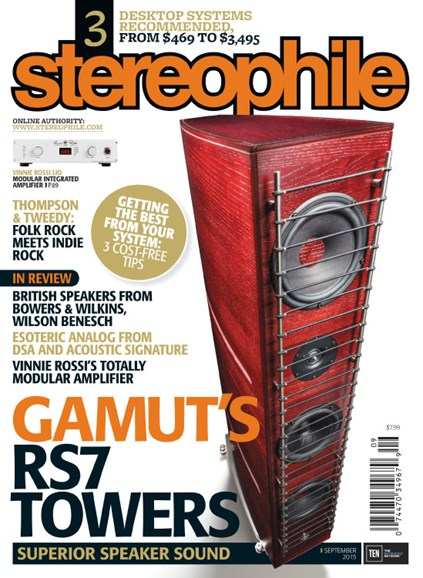 Stereophile Cover - 9/1/2015