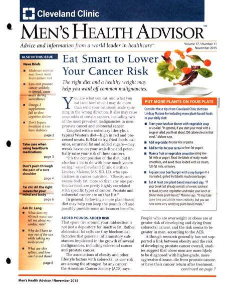 Men's Health Advisor Cover - 11/1/2015