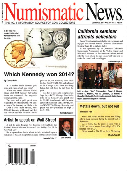 Numismatic News Cover - 10/20/2015