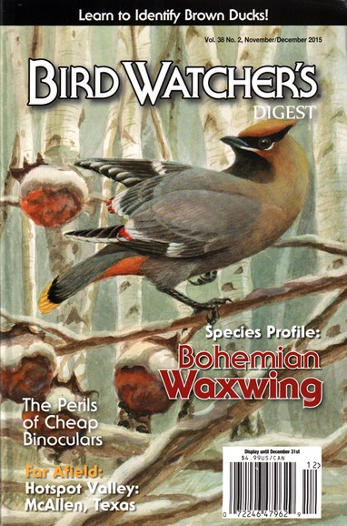 Bird Watcher's Digest Cover - 11/1/2015