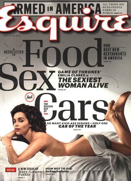 Esquire Cover - 11/1/2015