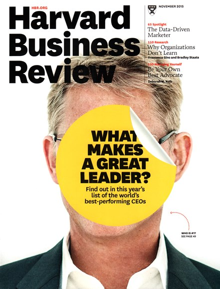 Harvard Business Review Cover - 11/1/2015