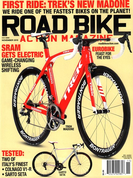 Road Bike Action Cover - 11/1/2015