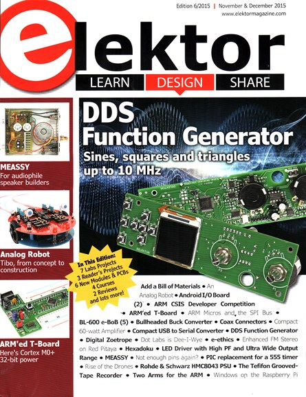 Elektor - North American Edition Cover - 11/1/2015