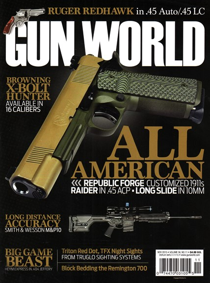 Gun World Cover - 11/1/2015