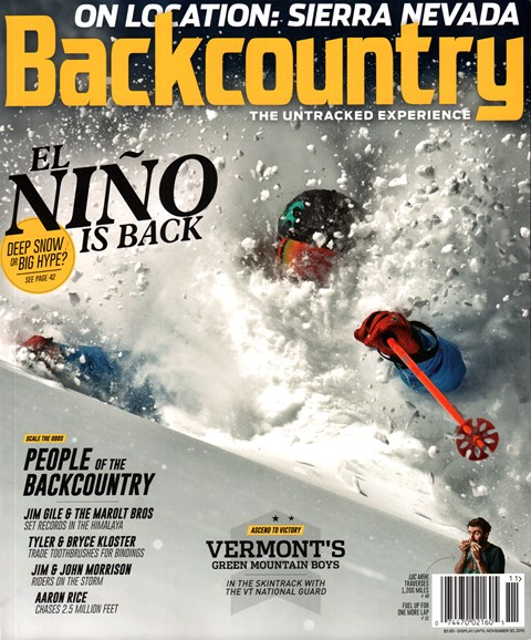 Backcountry Cover - 11/1/2015