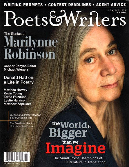 Poets & Writers Cover - 11/1/2015