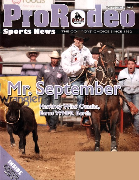 Pro Rodeo Sports News Cover - 10/9/2015