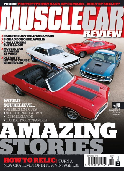 Muscle Car Review Cover - 11/1/2015