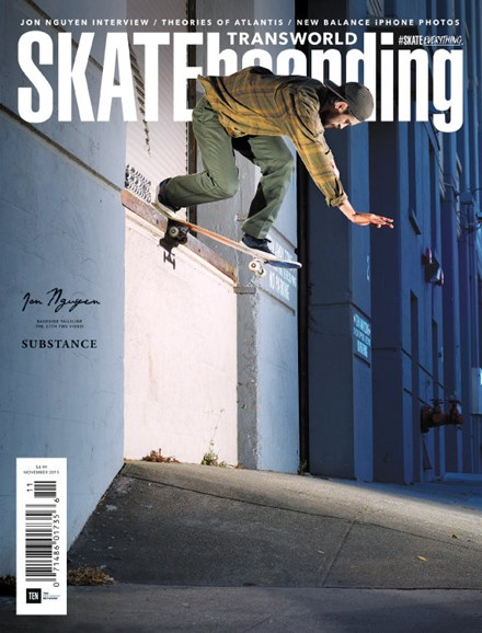 Transworld SKATEboarding Cover - 11/1/2015