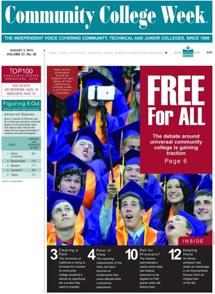 Community College Week Cover - 8/10/2015