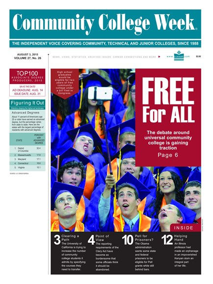 Community College Week Cover - 8/3/2015