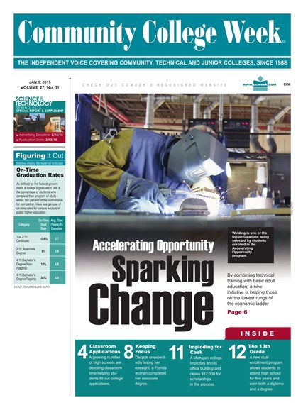 Community College Week Cover - 1/5/2015