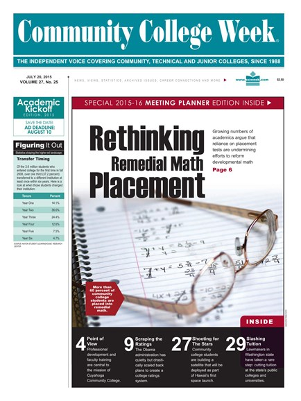 Community College Week Cover - 7/27/2015