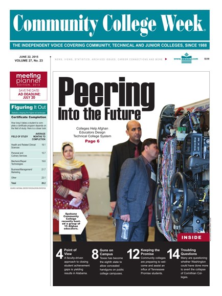Community College Week Cover - 6/22/2015