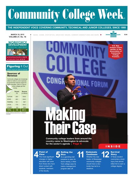 Community College Week Cover - 3/16/2015