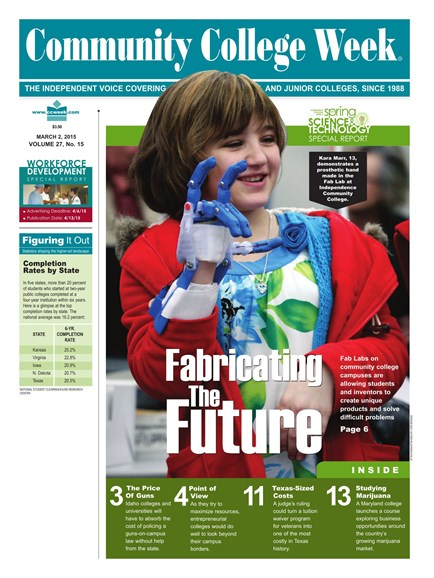 Community College Week Cover - 3/2/2015