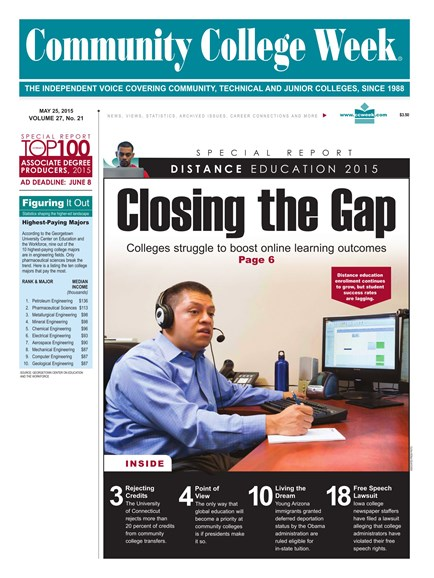 Community College Week Cover - 5/25/2015