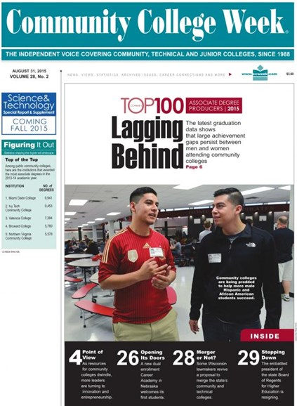 Community College Week Cover - 9/7/2015