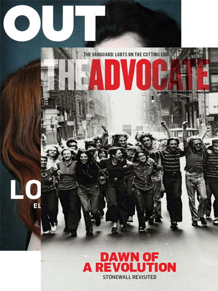 Out & The Advocate Edition Cover - 10/1/2015