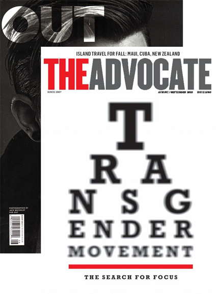 Out & The Advocate Edition Cover - 8/1/2015