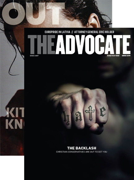 Out & The Advocate Edition Cover - 6/1/2015