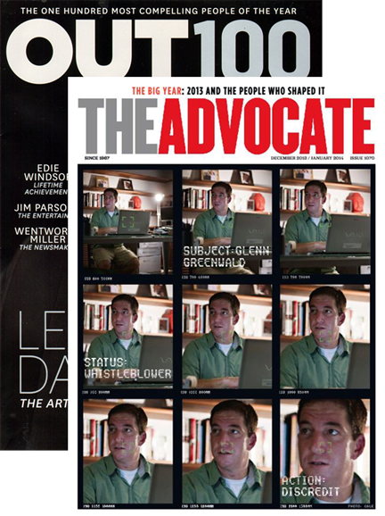 Out & The Advocate Edition Cover - 12/1/2013