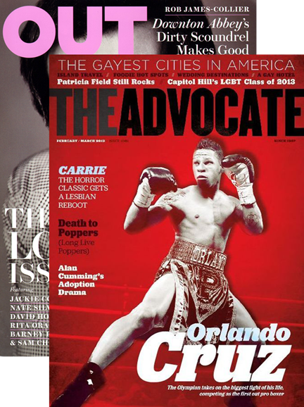 Out & The Advocate Edition Cover - 2/1/2013