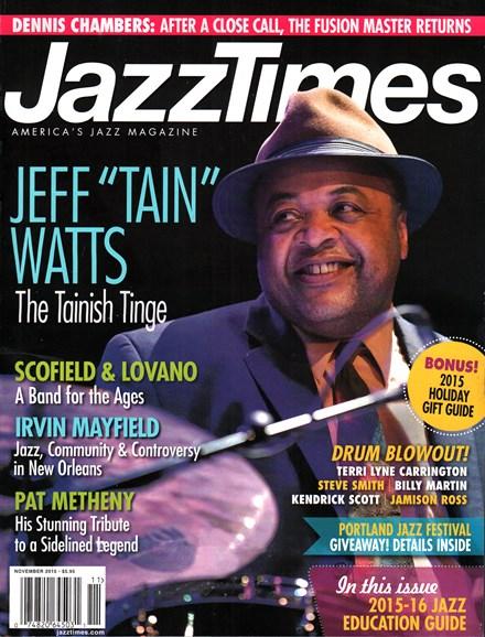 JazzTimes Cover - 11/1/2015