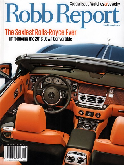 Robb Report Cover - 11/1/2015