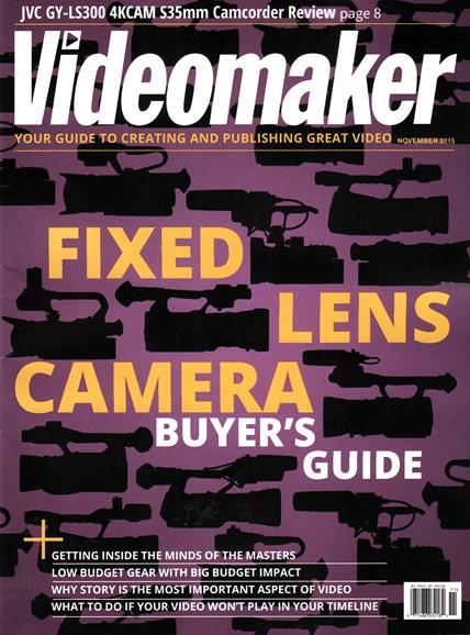 Videomaker Cover - 11/1/2015