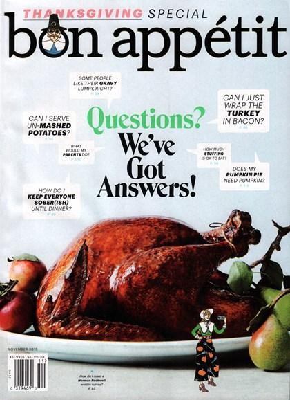 Bon Appétit Cover - 11/1/2015