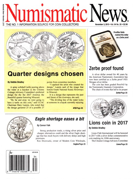 Numismatic News Cover - 11/3/2015