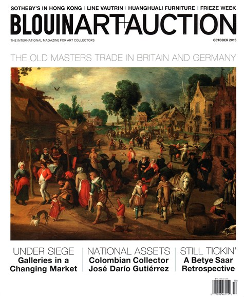 Blouin Art & Auction Cover - 10/1/2015